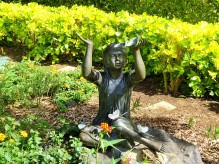 the sculpture in the butterfly garden